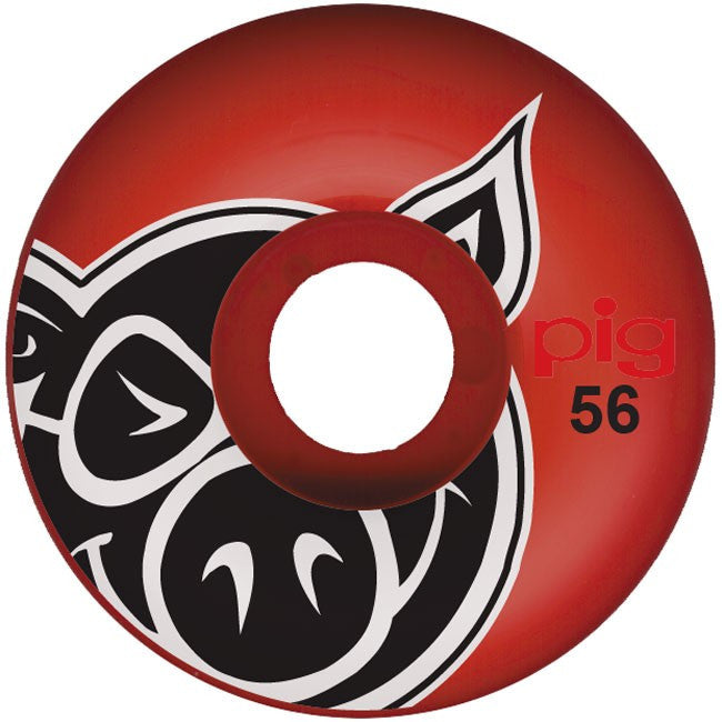 Pig Pighead - Red - 56mm - Skateboard Wheels (Set of 4)