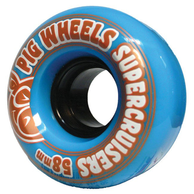 Pig Supercruiser II - Blue - 58mm 85a - Skateboard Wheels (Set of 4)