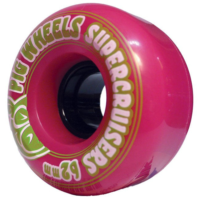 Pig Supercruiser II - Pink - 62mm 85a - Skateboard Wheels (Set of 4)