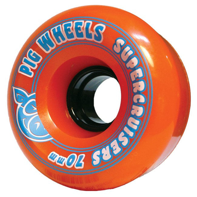 Pig Supercruiser II - Orange - 70mm 85a - Skateboard Wheels (Set of 4)