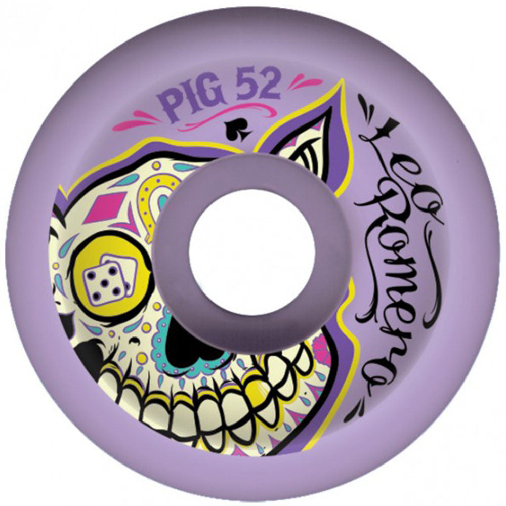 Pig Romero Day Of The Dead - Purple - 52mm - Skateboard Wheels (Set of 4)
