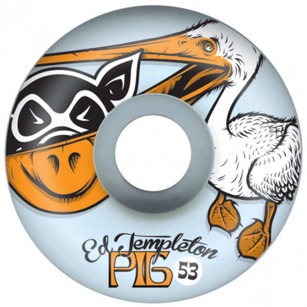 Pig Ed Pelican - White - 53mm - Skateboard Wheels (Set of 4)