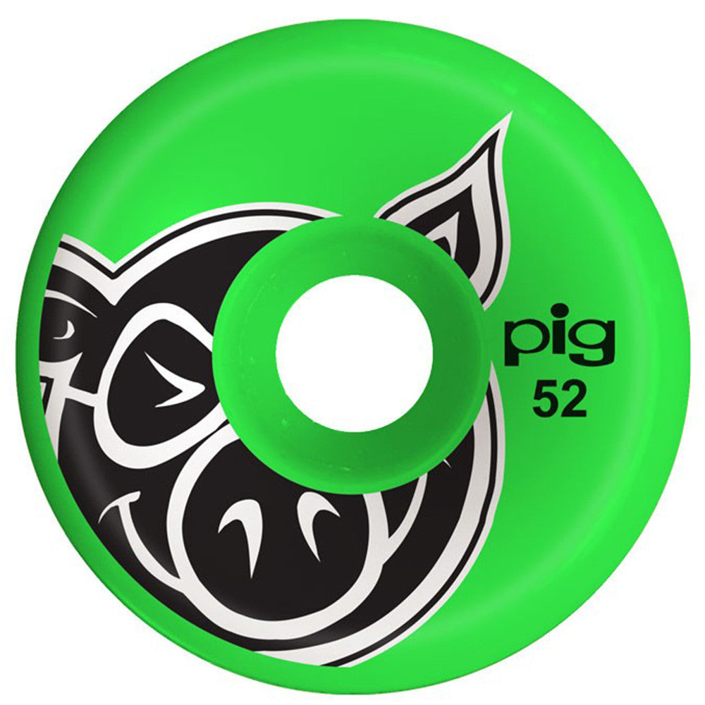 Pig Head C-Line - Green - 52mm - Skateboard Wheels (Set of 4)