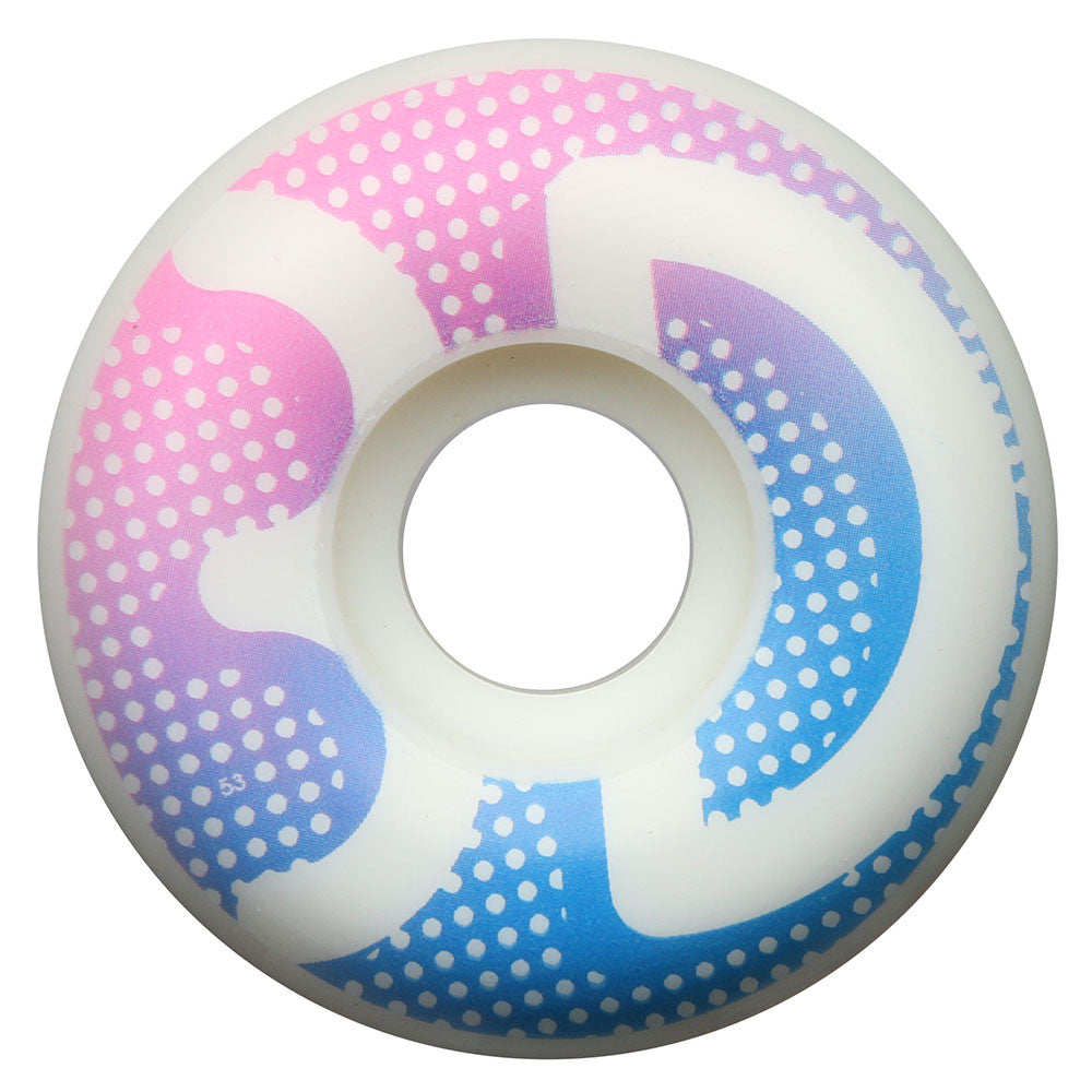 3D Dots - White - 55mm - Skateboard Wheels (Set of 4)