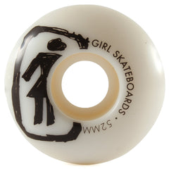 Girl Sketchy OG - White - 52mm - Skateboard Wheels (Set of 4)