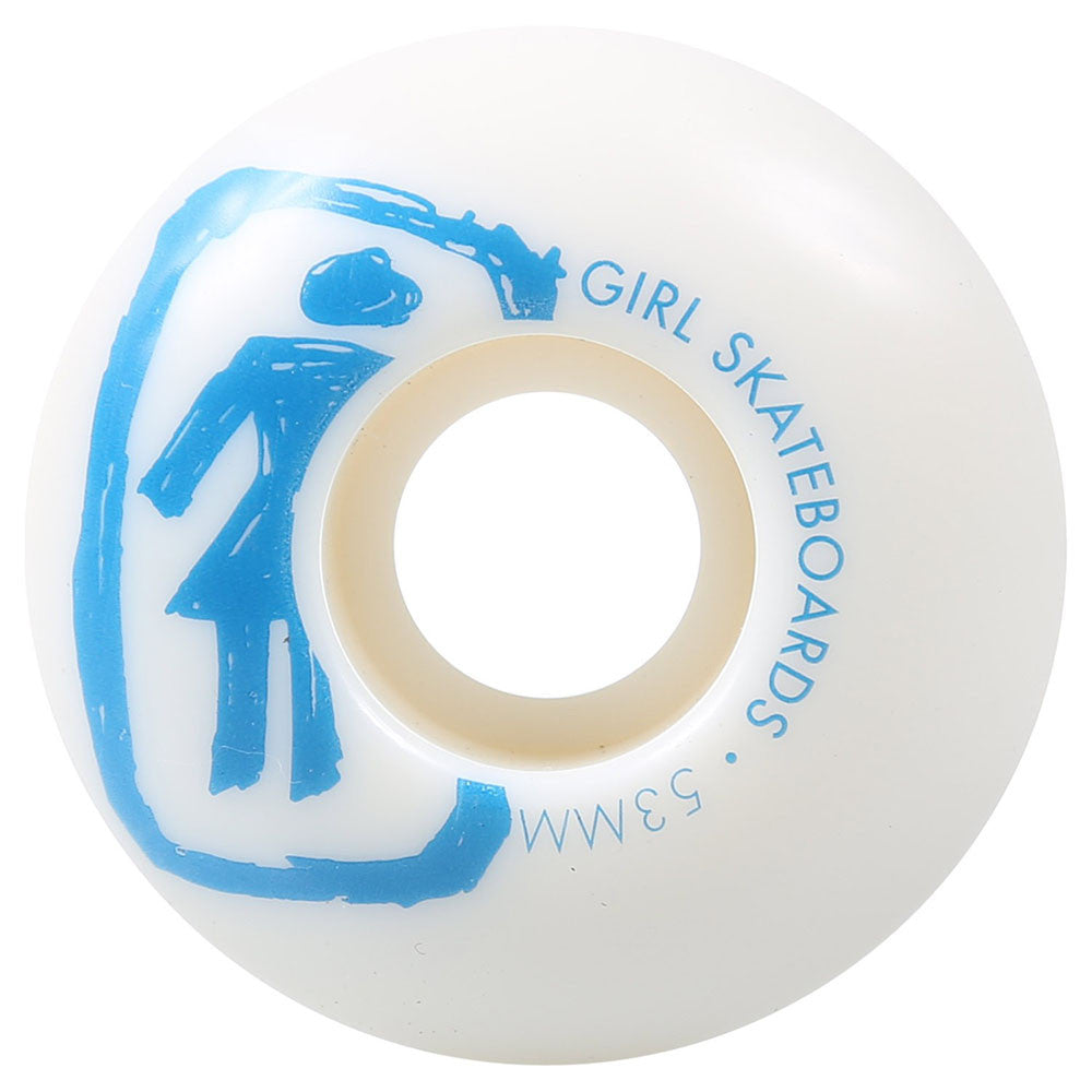 Girl Sketchy OG - White - 53mm - Skateboard Wheels (Set of 4)