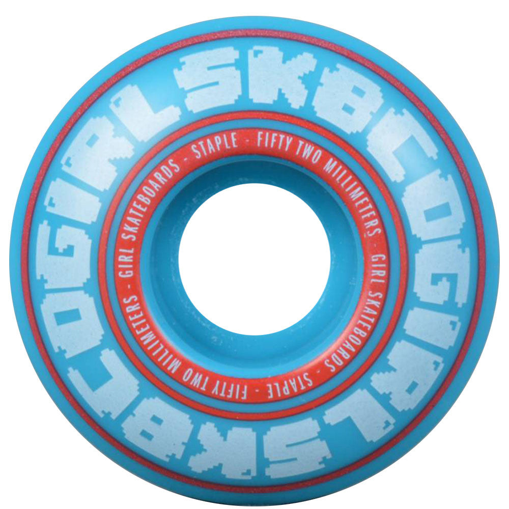 Girl Bobble - Blue - 52mm - Skateboard Wheels (Set of 4)