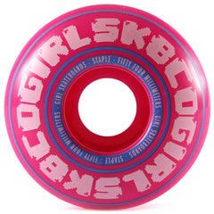 Girl Bobble - Pink - 54mm - Skateboard Wheels (Set of 4)