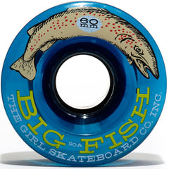 Girl Big Fish Cruiser - Clear Blue - 60mm - Skateboard Wheels (Set of 4)