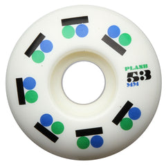 Plan B Iconic PP - White - 53mm - Skateboard Wheels (Set of 4)