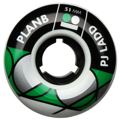 Plan B Ladd Stacked - White - 51mm - Skateboard Wheels (Set of 4)