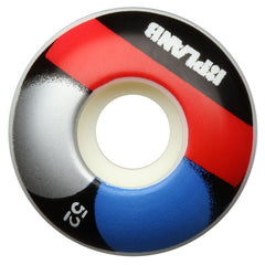 Plan B Stencil - White - 52mm - Skateboard Wheels (Set of 4)