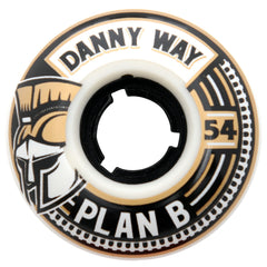 Plan B Danny Way Crest - White - 54mm - Skateboard Wheels (Set of 4)