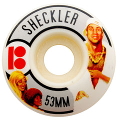Plan B Ryan Sheckler Action Flicks - White - 53mm - Skateboard Wheels (Set of 4)