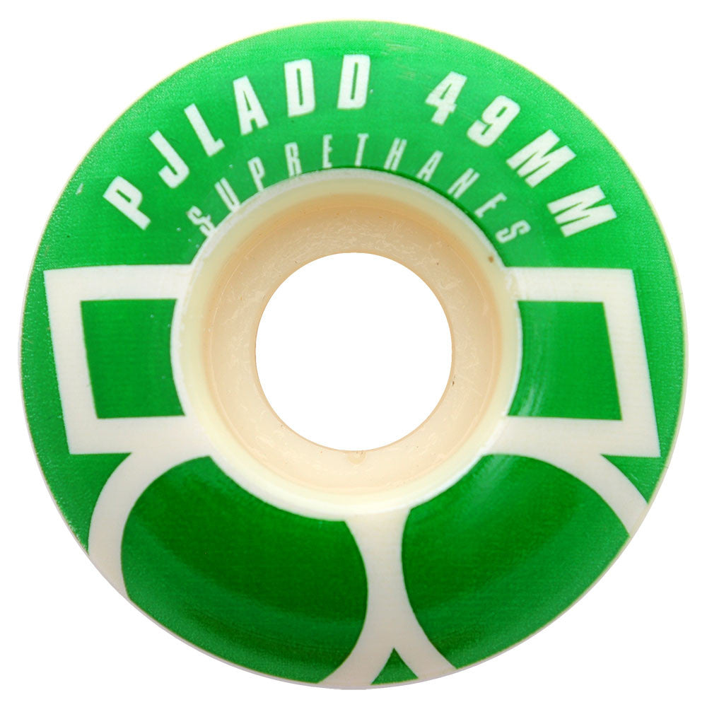 Plan B PJ Ladd Suprethanes - White - 49mm - Skateboard Wheels (Set of 4)