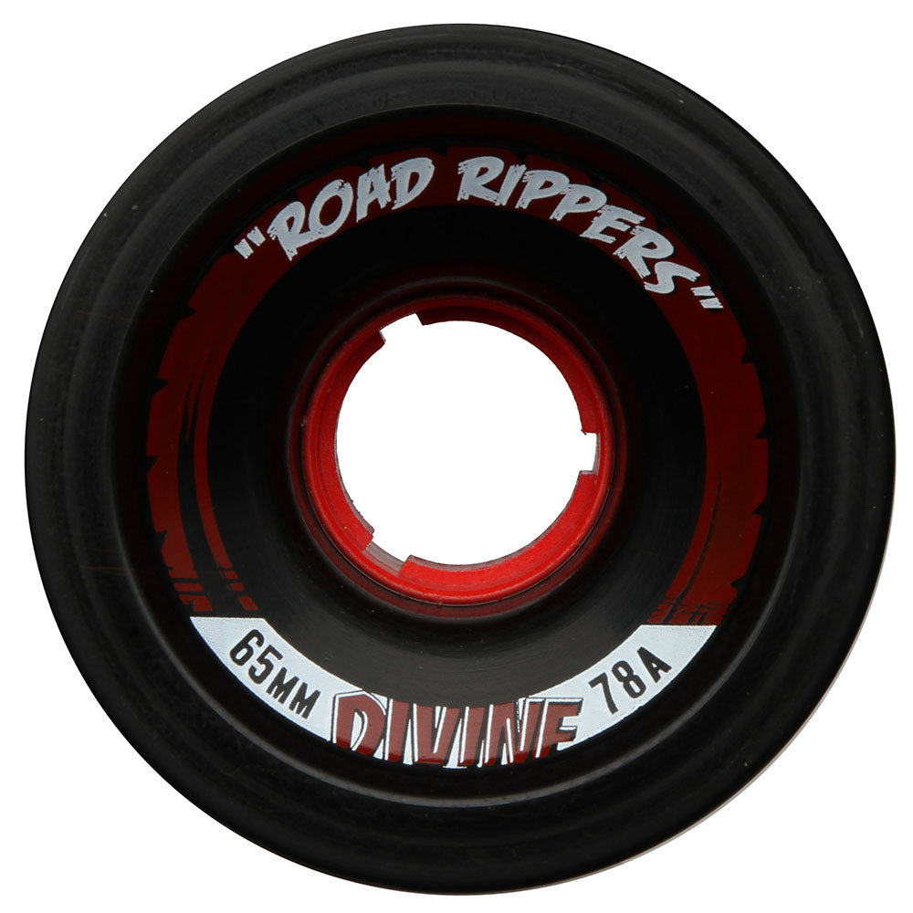 Divine Road Rippers - Black - 65mm 78a - Skateboard Wheels (Set of 4)