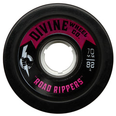 Divine Road Rippers - Black - 70mm 82a - Skateboard Wheels (Set of 4)
