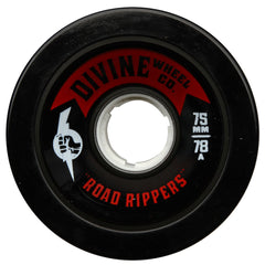 Divine Road Rippers - Black - 75mm 78a - Skateboard Wheels (Set of 4)