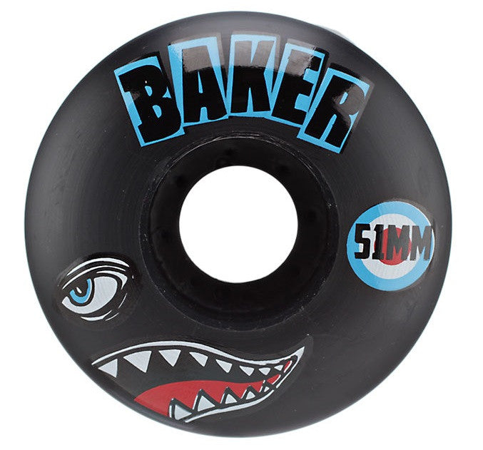 Baker Bomber - Black - 51mm - Skateboard Wheels (Set of 4)