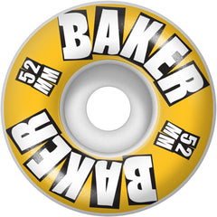 Baker Brand Logo - Mustard - 52mm - Skateboard Wheels (Set of 4)