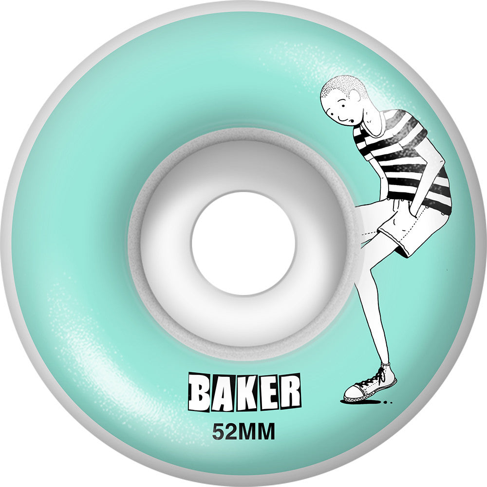 Baker Doodles - Light Blue - 52mm - Skateboard Wheels (Set of 4)