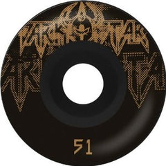 Darkstar Decay Price Knight - Black/Gold - 53mm - Skateboard Wheels (Set of 4)