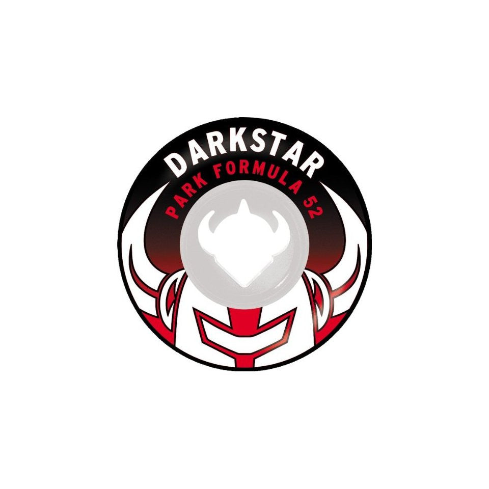 Darkstar Growler Park Plus - White/Black/Red - 52mm - Skateboard Wheels (Set of 4)