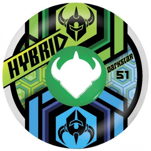 Darkstar Link Hybrid - Green/Blue - 51mm - Skateboard Wheels (Set of 4)