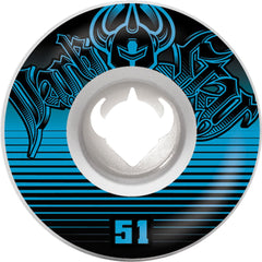 Darkstar Spike Street Formula - White - 51mm - Skateboard Wheels (Set of 4)