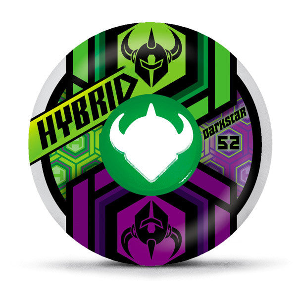 Darkstar Link Hybrid - White - 52mm - Skateboard Wheels (Set of 4)