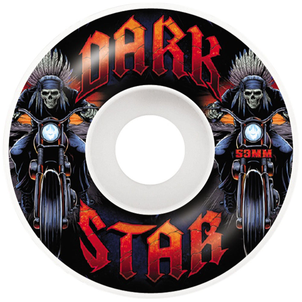 Darkstar Roadie - White - 53mm - Skateboard Wheels (Set of 4)