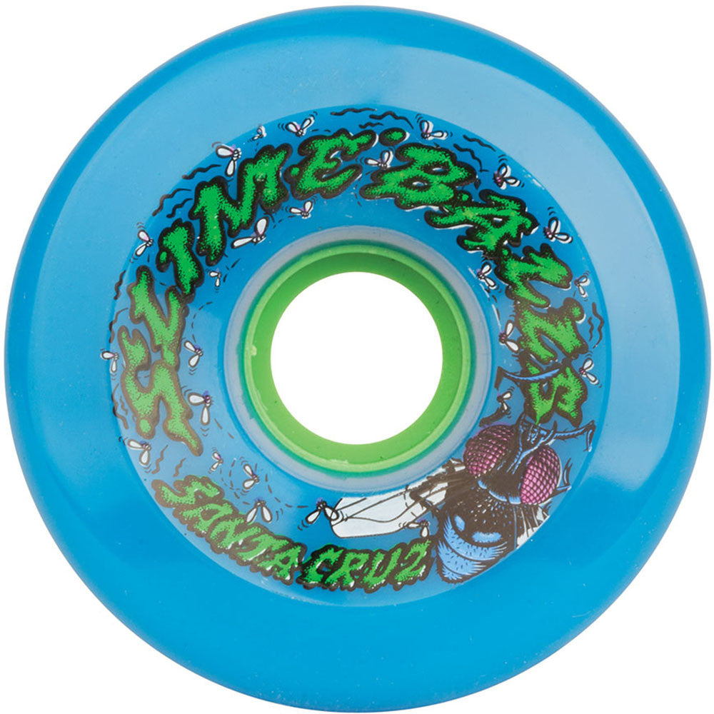 Santa Cruz Slime Balls Roadkill - Neon Blue - 72mm 78a - Skateboard Wheels (Set of 4)