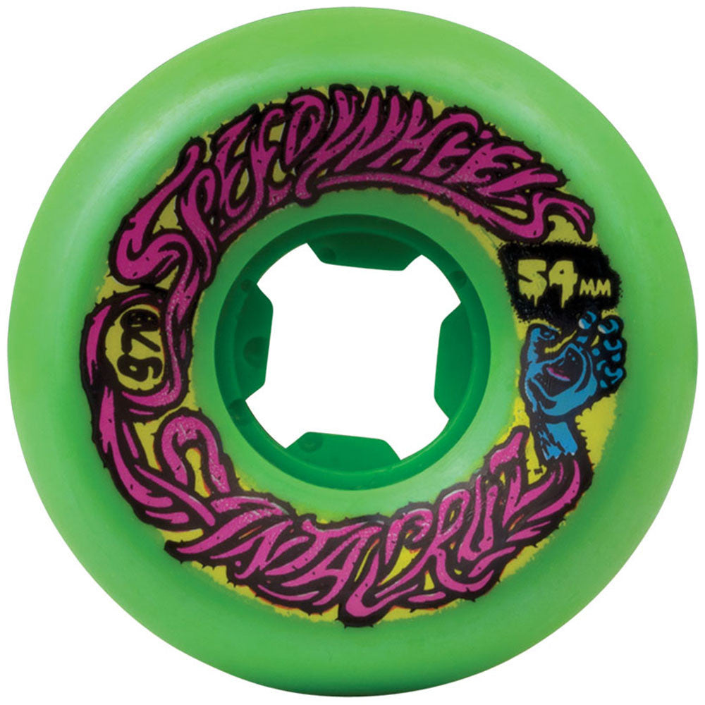 Santa Cruz Slime Balls Speed - Green - 54mm 97a - Skateboard Wheels (Set of 4)