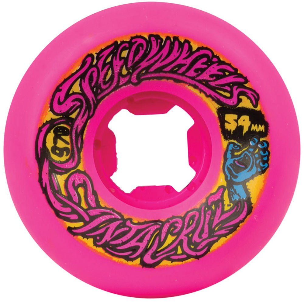 Santa Cruz Slime Balls Speed - Pink - 54mm 97a - Skateboard Wheels (Set of 4)