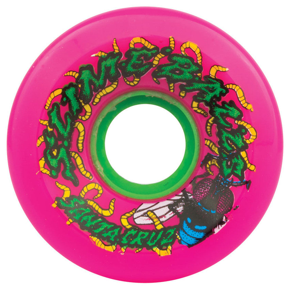 Santa Cruz Slime Balls Maggots - Pink - 60mm 78a - Skateboard Wheels (Set of 4)