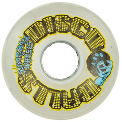 Santa Cruz Slime Balls Disco Balls w/LED & Bearings - White - 60mm 78a - Skateboard Wheels (Set of 4)