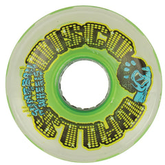 Santa Cruz Slime Balls Disco Balls w/LED & Bearings - Green - 60mm 78a - Skateboard Wheels (Set of 4)