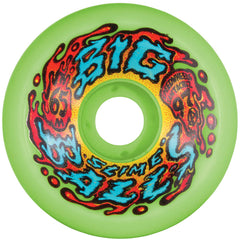 Santa Cruz Slime Balls Big Balls - Neon Green - 65mm 97a - Skateboard Wheels (Set of 4)