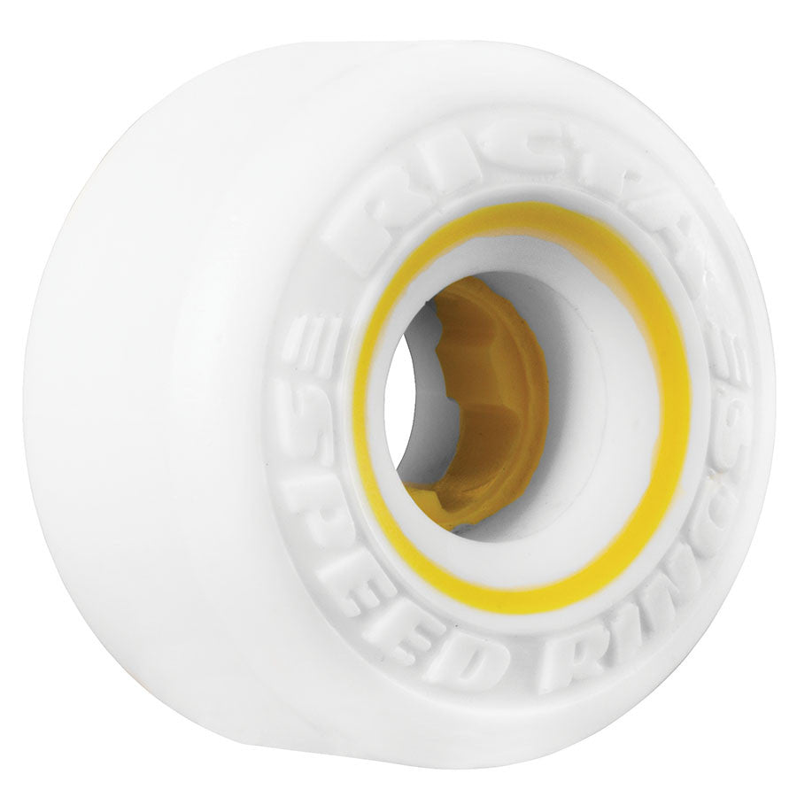 Ricta Speedrings - White/Yellow - 58mm 81b - Skateboard Wheels (Set of 4)