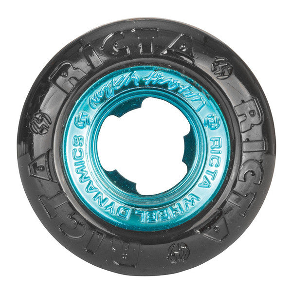 Ricta Nyjah Huston All Star - Black/Teal - 53mm 81b - Skateboard Wheels (Set of 4)