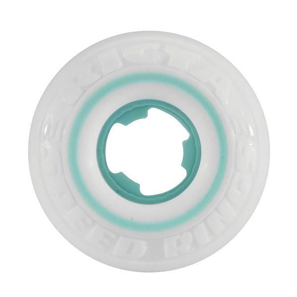 Ricta Nyjah Huston Pro Speedrings - White/Teal - 50mm 81b - Skateboard Wheels (Set of 4)