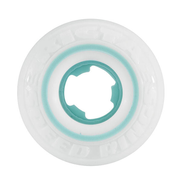 Ricta Nyjah Huston Pro Speedrings - White/Teal - 52mm 81b - Skateboard Wheels (Set of 4)