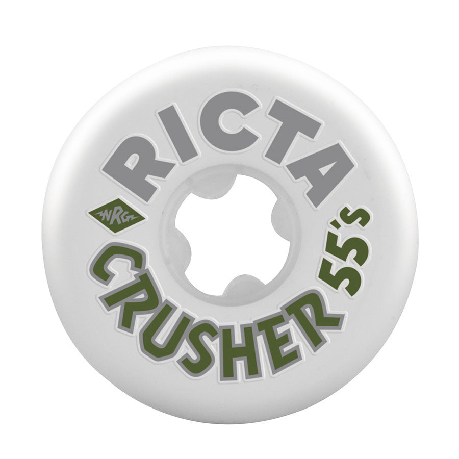 Ricta Park Crushers - White/Cool Grey - 55mm 83b - Skateboard Wheels (Set of 4)