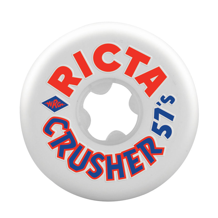Ricta Park Crushers - White/Red - 57mm 83b - Skateboard Wheels (Set of 4)