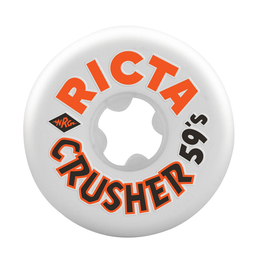 Ricta Park Crushers - White/Orange - 59mm 83b - Skateboard Wheels (Set of 4)
