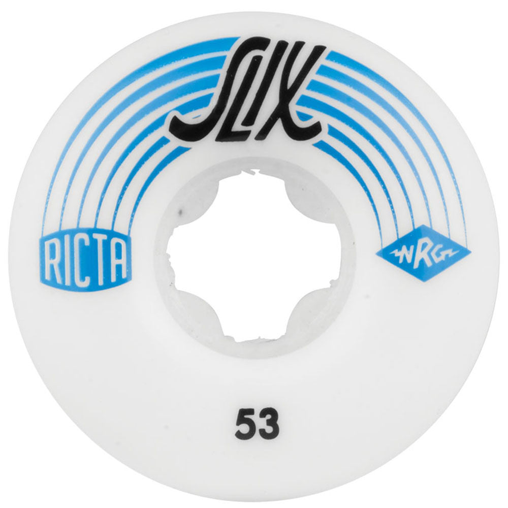 Ricta SLIX - White - 53mm 81b - Skateboard Wheels (Set of 4)