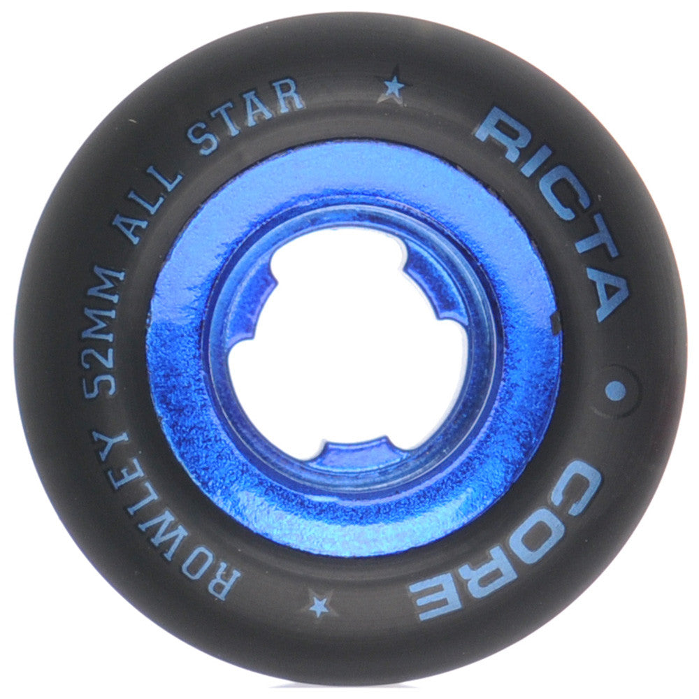 Ricta Geoff Rowley Chrome Core - Black/Blue - 52mm - Skateboard Wheels (Set of 4)