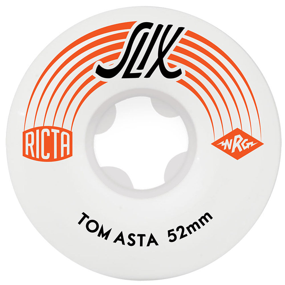 Ricta Tom Asta SLIX - White - 52mm 81b - Skateboard Wheels (Set of 4)