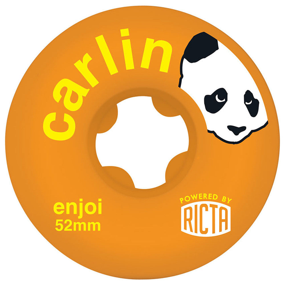Ricta Enjoi Carlin SLIX - Orange - 52mm 81b - Skateboard Wheels (Set of 4)