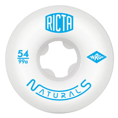 Ricta Naturals - White - 54mm 99a - Skateboard Wheels (Set of 4)